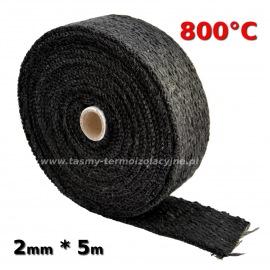 Taśma termoizolacyjna czarna 2mm * 5m