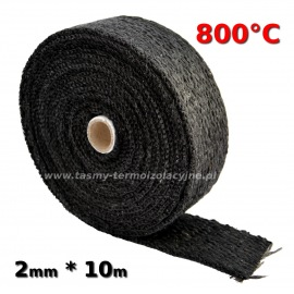 Taśma termoizolacyjna czarna 2mm 10m