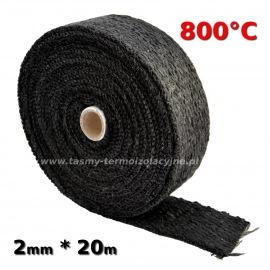 Taśma termoizolacyjna czarna 2mm * 20m