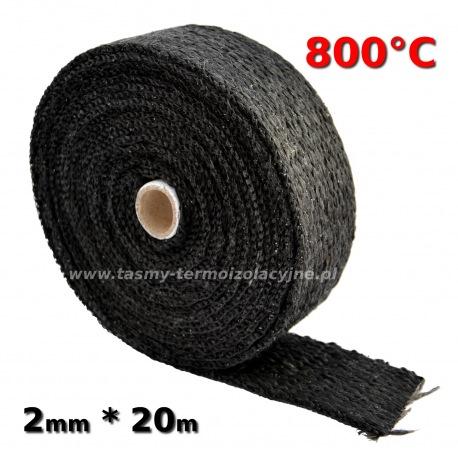 Taśma termoizolacyjna czarna 2mm 20m