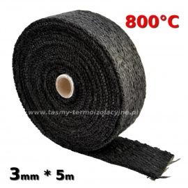 Taśma termoizolacyjna czarna 3mm * 5m