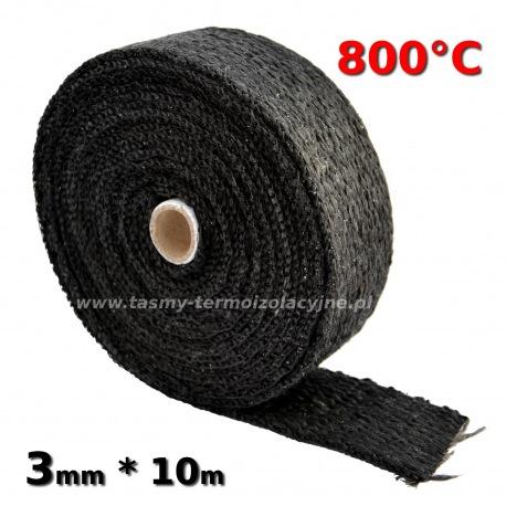 Taśma termoizolacyjna czarna 3mm 10m