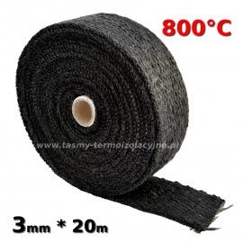 Taśma termoizolacyjna czarna 3mm * 20m